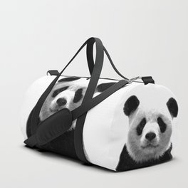 Black and white panda portrait Duffle Bag