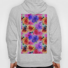 Colorful abstract modern roses flowers pattern Hoody