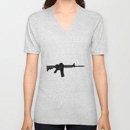 AR15 Rifle Silhouette Unisex V-Neck