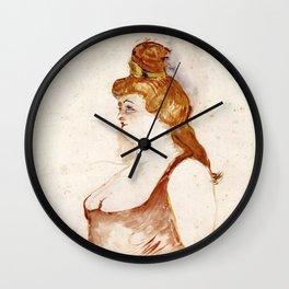 Henri de Toulouse-Lautrec - Mademoiselle Cocyte in La Belle Hélène Wall Clock