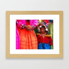 Peruvian Girl Framed Art Print