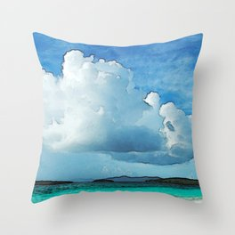 Caribbean Cumulonimbus Clouds Throw Pillow