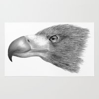 eagle Area & Throw Rugs featuring Eagle by Abstract Al