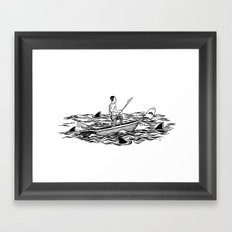 Troubled Waters Framed Art Print