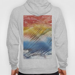 The Wind - abstract landscape watercolor monotype Hoody