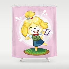 Isabelle Pink Shower Curtain
