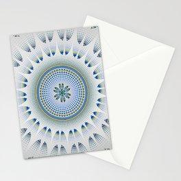 Lacy Blue and White Mandala Stationery Cards
