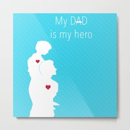Father and son art Metal Print