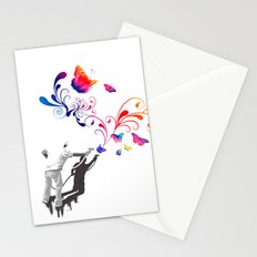 Nature's comeback graffiti Stationery Cards