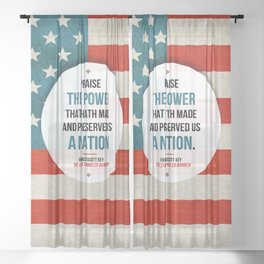 Preserved us a Nation Sheer Curtain