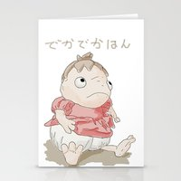 ponyo Stationery Cards featuring DekaDekaHan of Ponyo by Masaki IINUMA