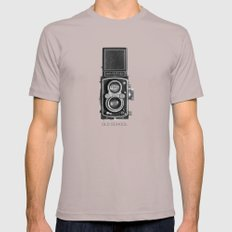 The King of Cameras - The Rolleiflex LARGE Mens Fitted Tee Cinder