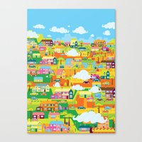 the neighbourhood Canvas Prints featuring Neighbourhood by James Thornton