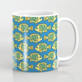 Tropical Fish in Pastel - Doodle Pattern Coffee Mug