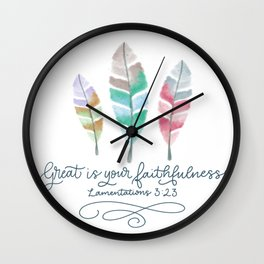 Great is Your Faithfulness  Wall Clock