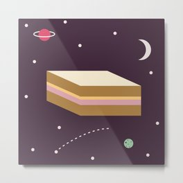 Ham & Cheese in Space Metal Print