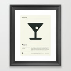 Alcohol Framed Art Print