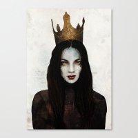 queen Canvas Prints featuring Queen by Feline Zegers