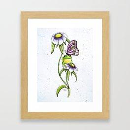 Butterfly Frog Framed Art Print