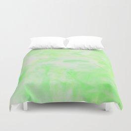 Neon Green Marble Duvet Cover