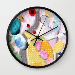 Pink Cactus Mexico Lindo Wall Clock