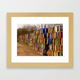 Glastonbury Bins Framed Art Print