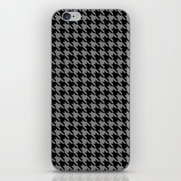 Black and Grey Classic houndstooth pattern iPhone Skin