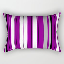 Asexual Pride Thin Varied Stripes Rectangular Pillow