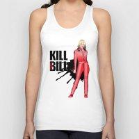 kill bill Tank Tops featuring Kill Vampire Bill (Red Version) by AriesNamarie