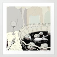A Rat in a Punch Bowl Art Print