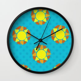 Look on the Bright Side- light blue Wall Clock