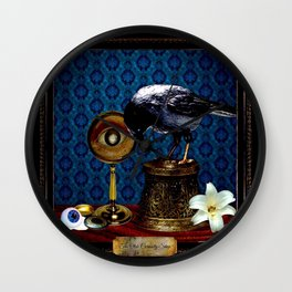 The Curiosity Shop Raven Wall Clock