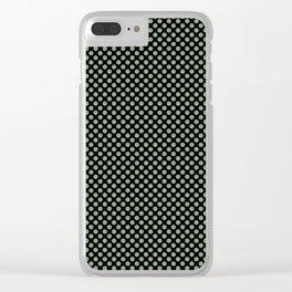 Black and Mistletoe Polka Dots Clear iPhone Case