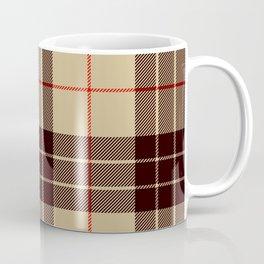 Tan Tartan with Black and Red Stripes Coffee Mug