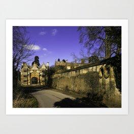 Manor Gatehouse  Art Print