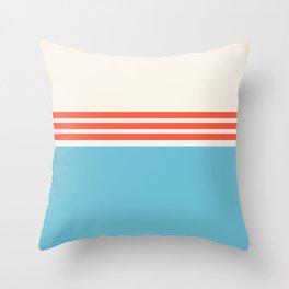 Modern Minimal Striped Blue 11 Throw Pillow