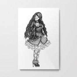 Steampunk Girl Metal Print