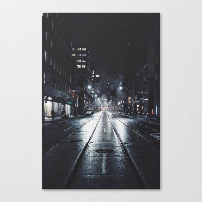 Night street reflect Canvas Print
