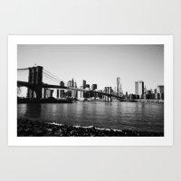 brooklyn Art Prints featuring Brooklyn by Ariane Moshayedi Photography