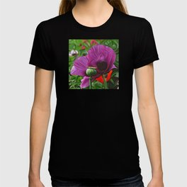 DeepDream Flowers, Poppy, DeepDream style T-shirt
