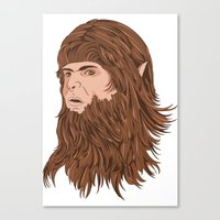 teen wolf Canvas Prints featuring Teen Wolf by Joseph Botcherby