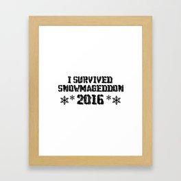 I Survived Snowmageddon Framed Art Print