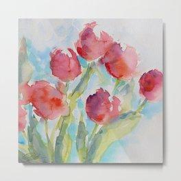 Tulips (watercolor) Metal Print