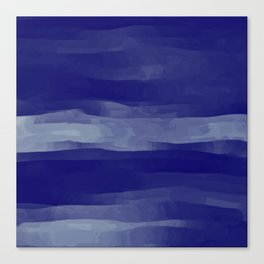 Abstract Navy Blue Sky Canvas Print