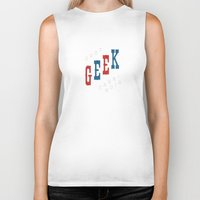 geek Biker Tanks featuring Geek by The Provincial Trading Co.