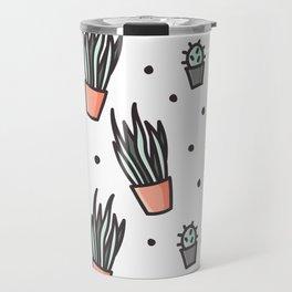 Sansevieria and cactus doodles Travel Mug