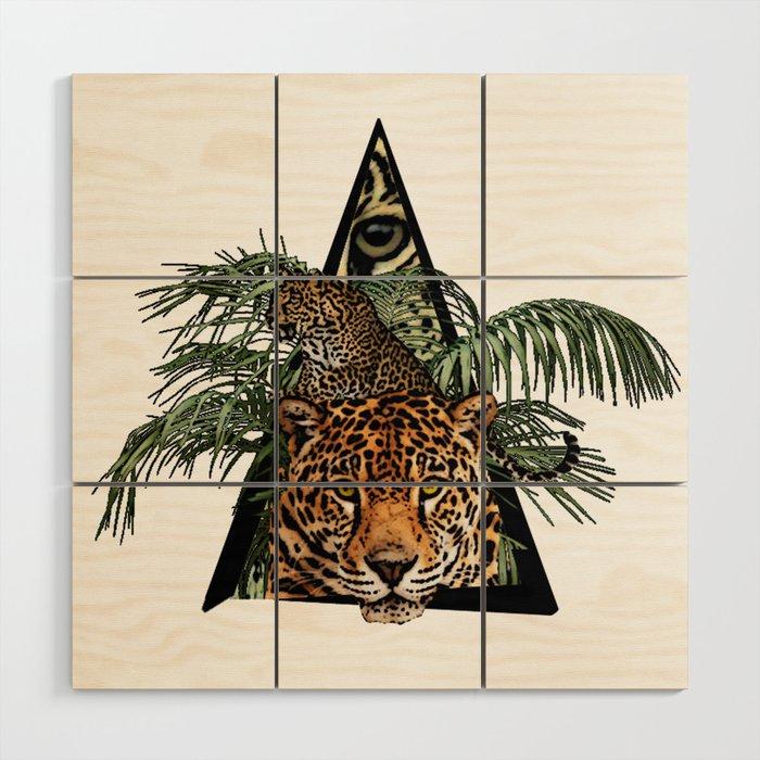 Jungle Animal Leopard ArtWork Wood Wall Art