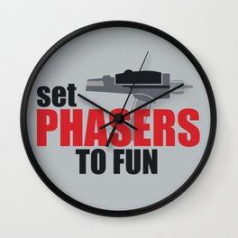 Set Phasers to Fun! Wall Clock