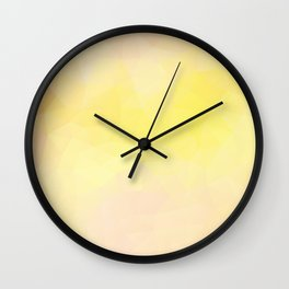 Triangles design in warm yellow colors Wall Clock