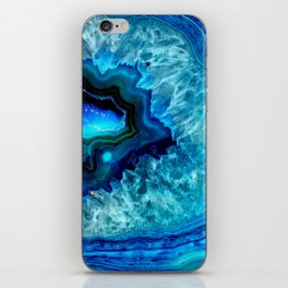 Turquoise Blue Teal Quartz Crystal iPhone Skin